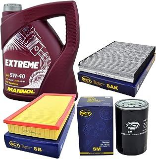 Inspektionspaket Filterset Ölfilter Luftfilter Pollenfilter + 5L 5W40 Mannol ÖL