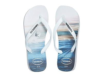 Havaianas Hype Flip Flops (White) Men