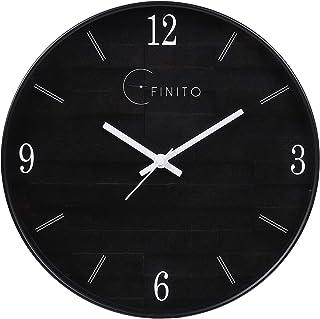 EFINITO Plastic Silent Movement Wall Clock (Black_32 x 6 x 32 cm)