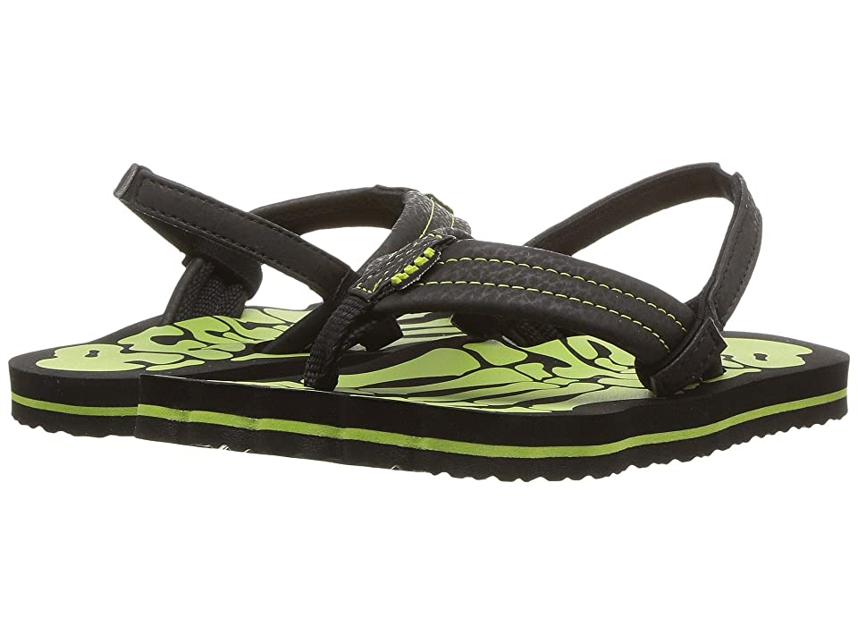Reef Kids Grom Skeleton (Infant/Toddler/Little Kid/Big Kid) (Green) Boys Shoes