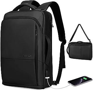 MS Zaino per laptop da lavoroda uomo, borsa a tracolla impermeabile 3 in 1 da 15,6 pollici per uomo e donna con porta USB