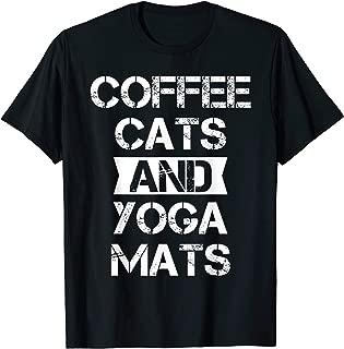 Yoga Coffee Cats T-shirt, Coffee Cats And Yoga Mats T-Shirt