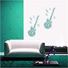 Kayra Decor Guitar Reusable DIY Wall Stencil Painting for Home Decoration (PVC, 16-inch x 24-inch)