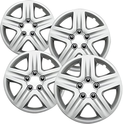 """Hub-caps for 06-07 Chevrolet Monte Carlo (Pack of 4) Wheel Covers 16"""" inch Snap On Silver"""