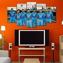 Indian Cricket Team 5 Piece Canvas Wallart - HD Quality