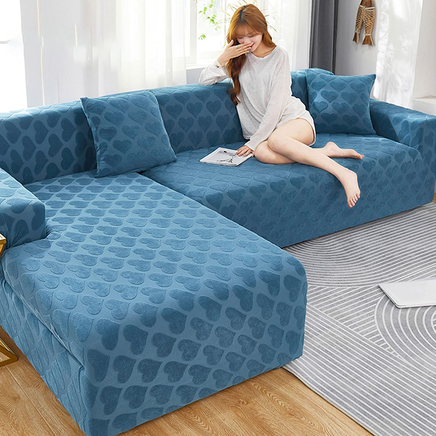 2 PCS 2021 Thicken Safety and trust Stretch Sofa for Fashion Set Sectional Covers