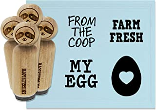 Egg from The Coop Heart Yolk Rubber Stamp Set for Stamping Crafting Planners - 1/2 Inch Mini