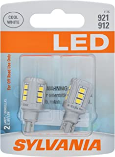 SYLVANIA - 921 LED White Mini Bulb - Bright LED Bulb, Ideal for Interior Lighting - Map, Trunk, Cargo and License Plate (Contains 2 Bulbs)