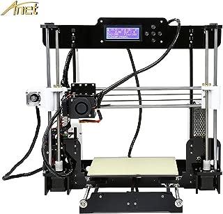 Anet A8 3D Printer, Self-Assembly 0.4mm Nozzle Aluminium Alloy Hotbed 2004 LCD Desktop 3D Printer Reprap i3 with Tools, 8G SD Card, 10m Filaments