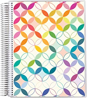 """8.5"""" x 11"""" Teacher Lesson Planner (August 2021 - July 2022) - Mid Century Circles Cover with Mid Century Circles Style Int..."""