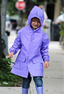 Lilly of New York Girls and Boys Waterproof Lightweight Rain Jacket with Hood and Pockets for Kids