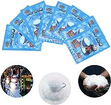 edhua - 1 Pieza de Nieve Artificial instantánea Falsa Nieve mágica esponjosa Nieve, Gran decoración para cumpleaños, Navidad, Boda y sentirse como Nieve Real