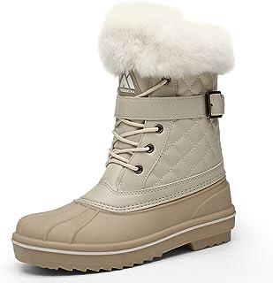 Men's Women's Snow Boots Outdoor Warm Mid-Calf Booties Anti-Skid Water Resistant Winter Shoes