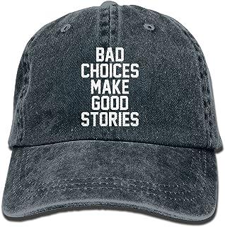 3a3e9ab1326e8 Bad Decisions Make Good Stories Unisex Cotton Denim Adjustable Cowboy Hat