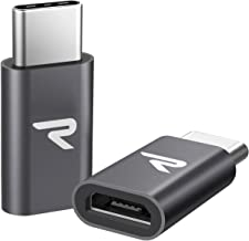 Rampow Adattatore USB C a Micro USB [2 Pezzi] - Garanzia A Vita - Type C a Micro USB Connettore Compatibile con OnePlus, Huawei, Nexus, MacBook ECC. - Grigio Siderale