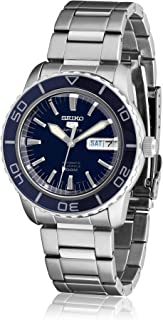 Men's SNZH53 Seiko 5 Automatic Dark Blue Dial Stainless Steel Watch