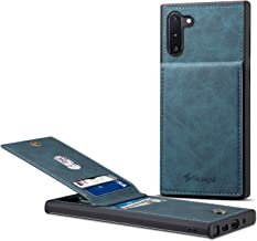 Samsung Galaxy Note 10 Card Holder Case, Note 10 Wallet Case Spaysi Slim, Galaxy Note 10 Folio Leather case, Flip Cover, Gift Box, for Note10 (Blue)
