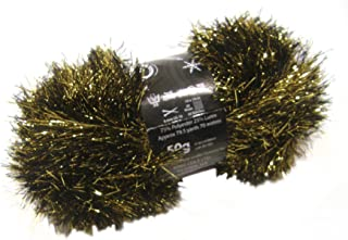 50g Ball of Tinsel Chunky Wool in Bronze
