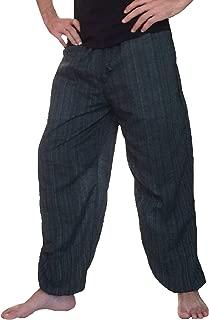 Love Quality Baggy Pants Men's One Size Cotton Harem Pants Hippie Boho Trousers