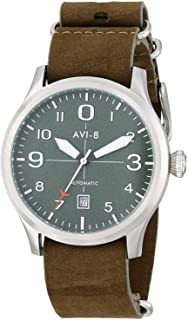 AVI-8 Men's AV-4021-03 FlyBoy Analog Japanese-Automatic Green Watch