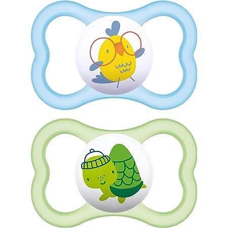 respetuoso con los dientes ping/üino//invierno chupete para beb/é de silicona especial MAM SkinSoft con caja para chupete MAM Chupete de silicona original en un juego de 2 unidades m/ás de 16 meses