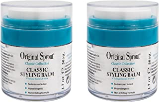 Original Sprout Classic Styling Balm. Non-Toxic Firm Holding Hair Styling Balm. 1.7 Ounces. 2 Pack. (Packaging May Vary)