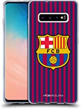 Official FC Barcelona Home 2018/19 Crest Kit Soft Gel Case Compatible for Samsung Galaxy S10+ / S10 Plus