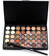 TryMe Popfeel Professional 40 Colors Makeup Eyeshadow Palette Natural Warm Color Cosmetic Eye Shadows