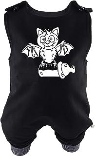Eve Couture Babykleidung Baby Strampler Die Milchvampir-Bande - Nepumuk, der kleine Milchvampir Unisex Rockabilly Rock´n Roll Gothic schwarz