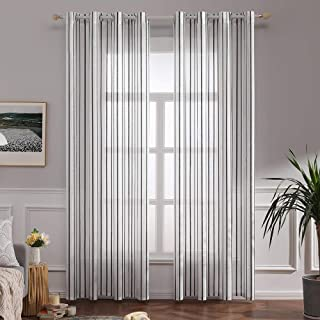 Best black and white striped window treatments Reviews