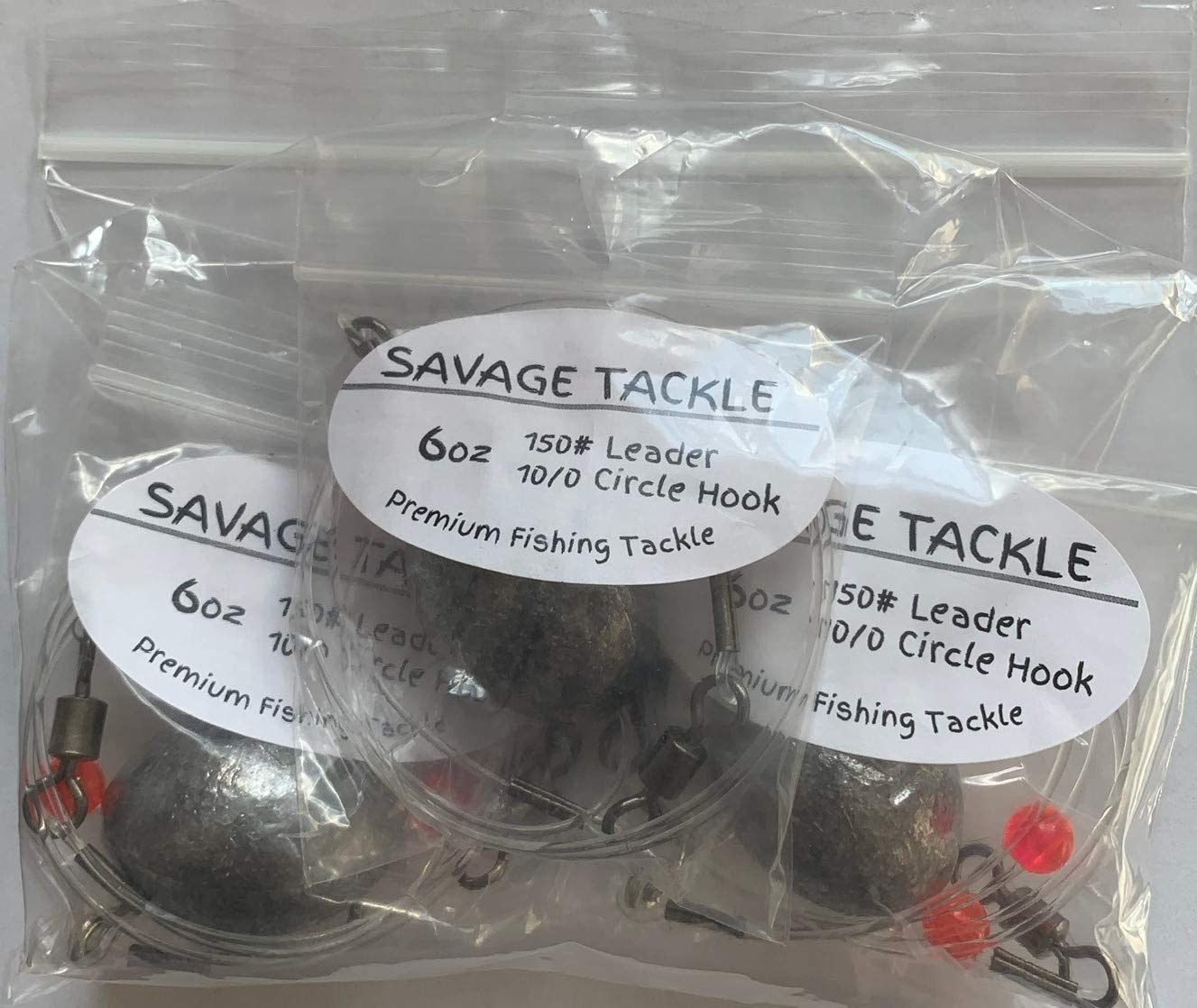 Savage Tackle 1 year warranty Premium Saltwater Bottom Rigs w Hooks- X2 M Circle OFFicial site