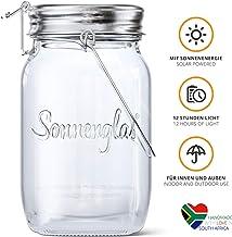 SONNENGLAS® Lámpara LED solar (4 bombillas LED, con asa), diseño de taro