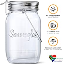 SONNENGLAS Original Premium Solar LED Lantern   Solar and USB Charging   Sturdy Glass and Stainless Steel   Fair Trade from South Africa