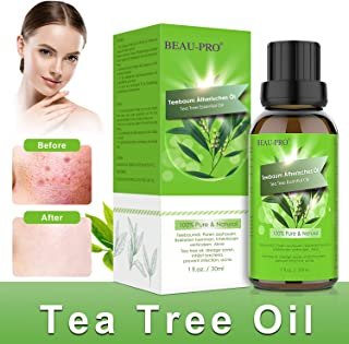 Teebaumöl Naturrein 100% - Teebaum öl Essential Tea Tree Oil für Shampoo Gesicht - Akne Öl, Acne Serum zum Unreine Haut, Anti Pickel, Akne, Diffuser Massage Spa Tea Tree Oil -30ml