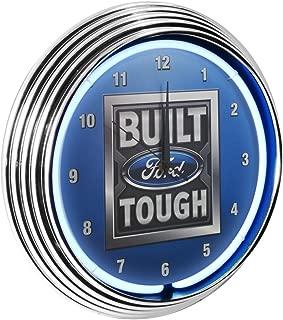 Yates Performance Neonetics Built Ford Tough Neon Wall Clock, 15-Inch