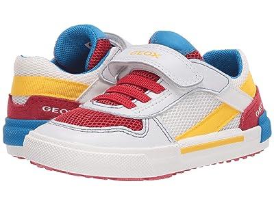 Geox Kids Kilwi 37 (Toddler) (White Red) Boy