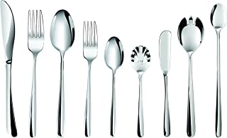 Flatware Set - 24 piece Stainless Steel Silverware with 4 Extra Serving Set included - Hornbit Dinnerware Cutleries - Quality Type 304 Stainless Steel - Continental Size (Signature Collections, 24)