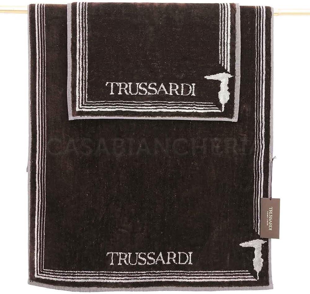 Trussardi home frame,coppia asciugamani di spugna 49107400