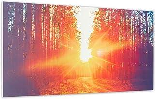 KLARSTEIN Wonderwall Air Art Infinite - Calefactor infrarrojo con Imagen, Panel, Sin Marco, Silencioso, Montaje en Pared, Open Window Detection, 720 W, 14 m², 120 x 60 cm, Camino del Bosque