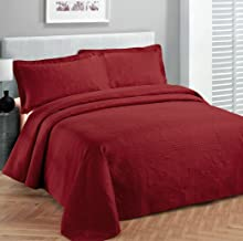 Fancy Collection 2pc Luxury Bedspread Coverlet Embossed Bed Cover Solid Red New Over Size Twin/twin Xl