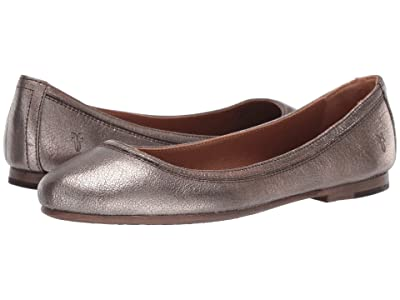 Frye Carson Ballet (Golden Silver Vintage Metallic) Women