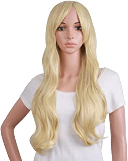 MapofBeauty 50cm/ 20 inch Long Curly Natural Fashion Beautiful Wig (Blonde)