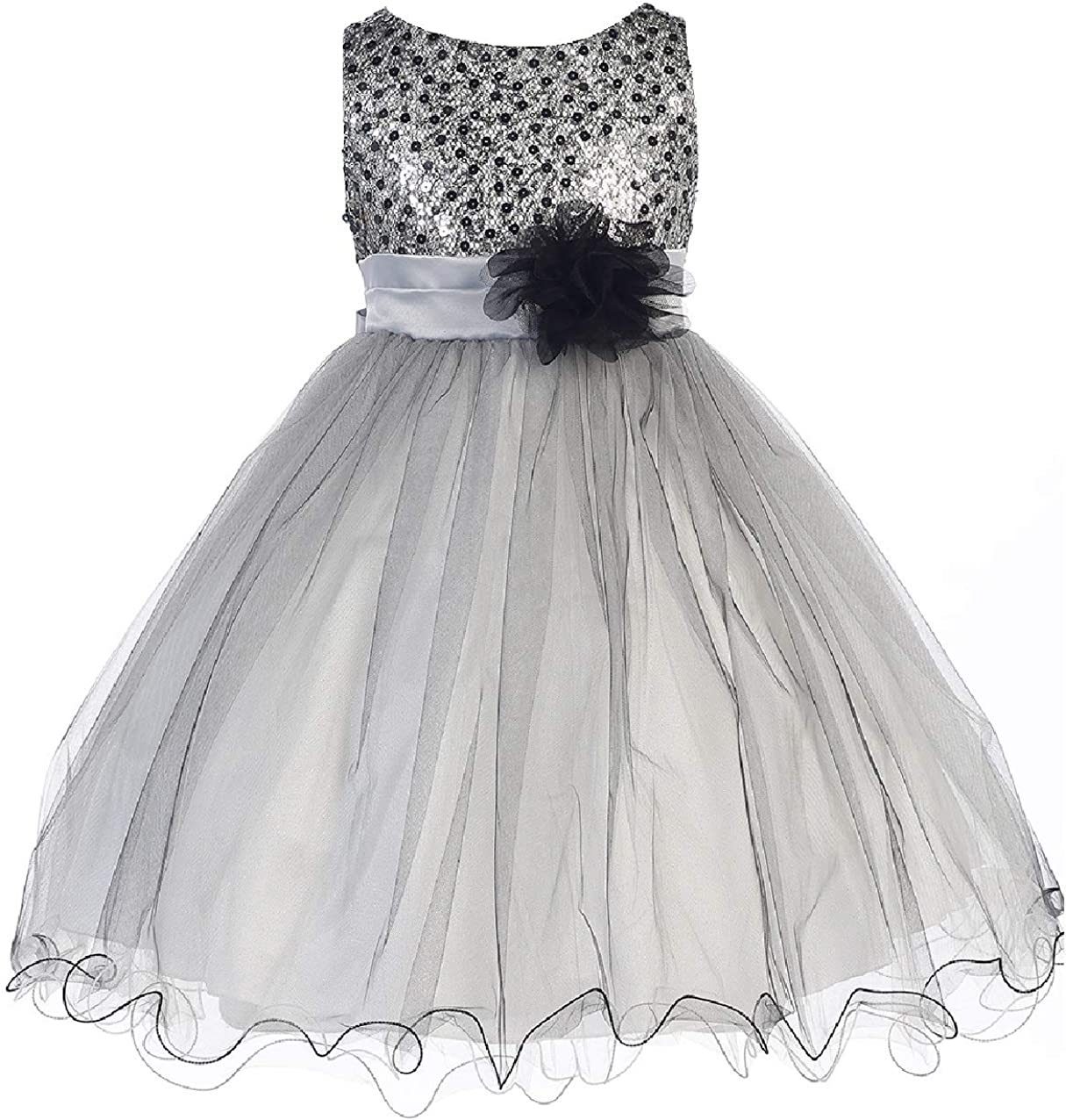 Little Girls Dress Kids Sleeveless Party Tulle Sequin Max Ranking TOP1 63% OFF Fl Holiday