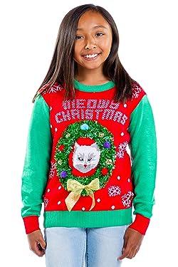 Tipsy Elfos - Suéteres de Navidad feos para niños - Tacky Boys y Niñas niños