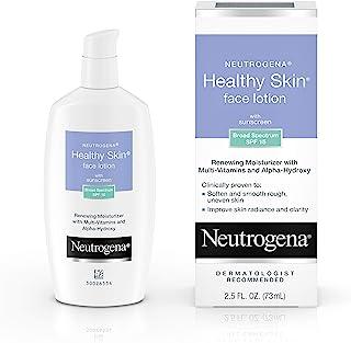 Neutrogena Healthy Skin Face Moisturizer Lotion with SPF 15 Sunscreen & Alpha Hydroxy Acid, Anti Wrinkle Cream with Glycer...