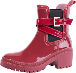 comprar comparacion Splugen Botas de Agua Mujer Botas de Lluvia Goma Impermeables Chelsea