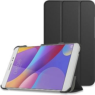 MediaPad T2 8.0 PRO ケース - ATiC Huawei MediaPad T2 8.0 PRO 8インチ タブレット専用開閉式三つ折薄型スタンドケース BLACK