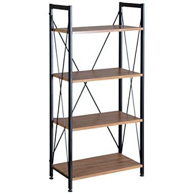 Baxton Studio New Semester Bookshelf, Coffee/Black