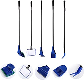 AquaticHI 5 in 1 Multi-Function Aquarium/Fish Tank Cleaning Tool, Algae Scraper, Fish..