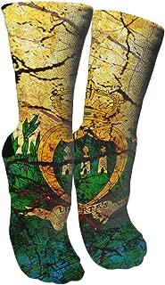 Vintage Saint Lucia Flag Socks Crew Sock Crazy Socks Long Tube Socks Novelty Fun for Women Teens Girls
